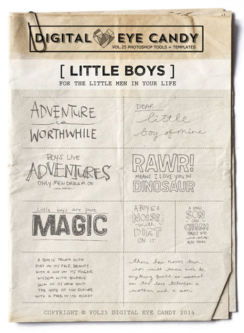 LITTLE BOYS- OVERLAY SET