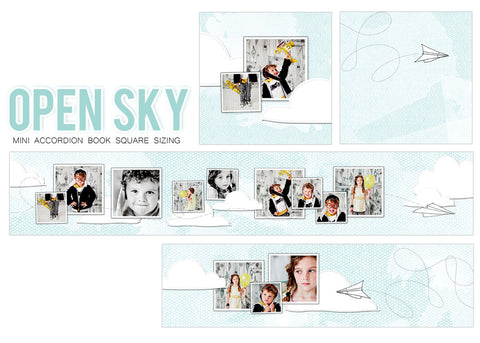 Mini Book Templates- OPEN SKY - ACCORDION FOR WHCC