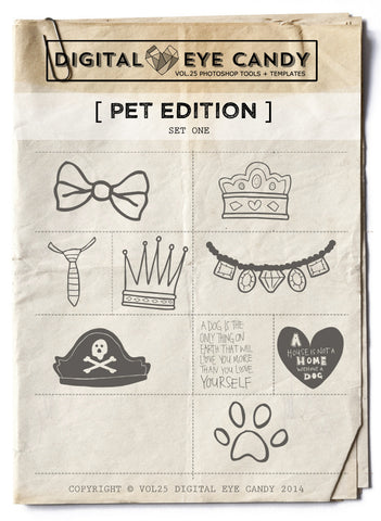 PET THEMED EDITION ONE OVERLAY SET