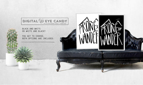Prone To Wander - Instant Download Printable Brush Script Art