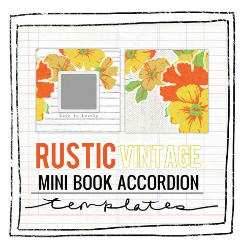 Mini Book Templates- RUSTIC VINTAGE - ACCORDION FOR WHCC