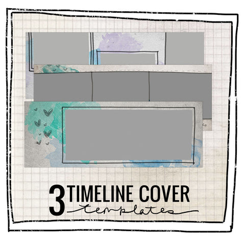 3 TIMELINE COVER TEMPLATES- SALTWATER COLLECTION