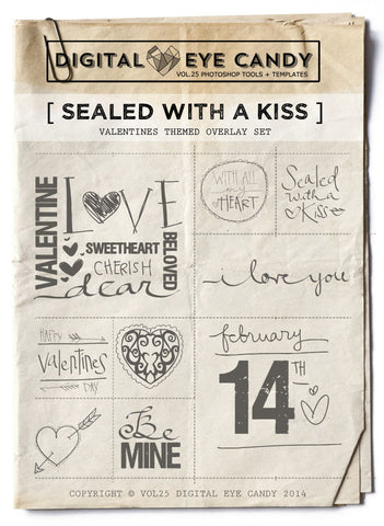 SEALED WITH  KISS VALENTINE- OVERLAY SET