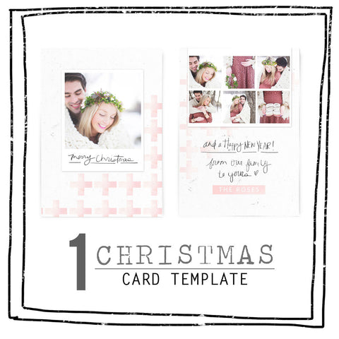 Card Template - 2016 CHRISTMAS - PINK SWISS CROSS