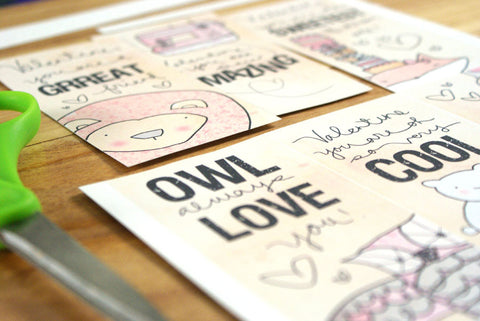 FOLD AND SEAL- Printable Valentines Day Cards 2013