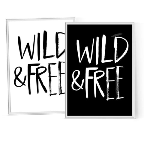 Wild and Free - Instant Download Printable Brush Script Art