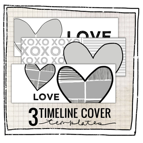 3 TIMELINE COVER TEMPLATES- FROM THE HEART