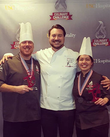 With Chef Glen Wiley and Chef Eric Ernest, 2017
