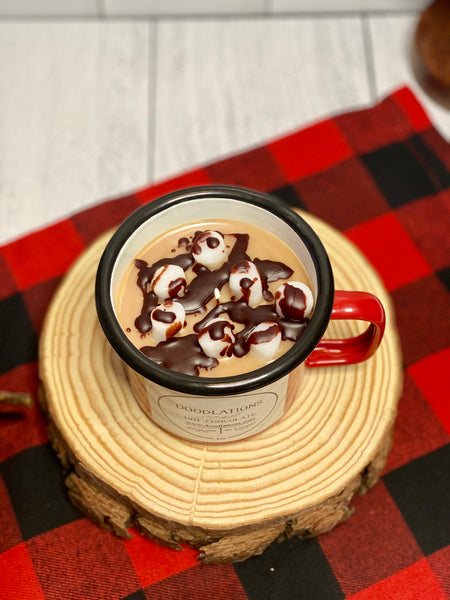 Enamel Camping Hot Chocolate Candle