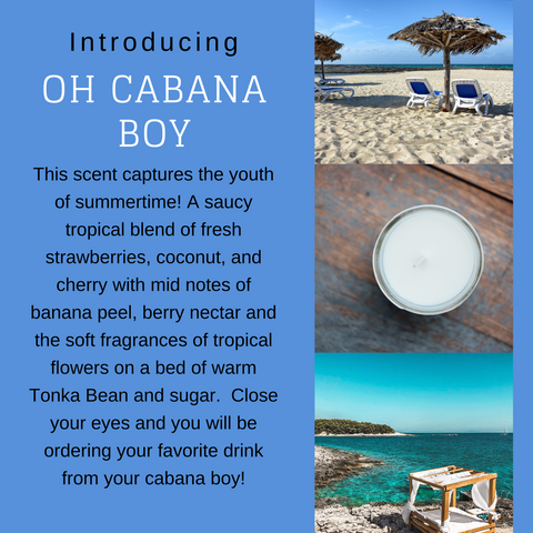 Oh Cabana Boy Candle