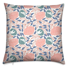 Load image into Gallery viewer, Pretty Peonies Block Print Cushion