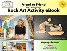 Load image into Gallery viewer, Friend to Friend Rock Art Activity PDF- Healing the Sick