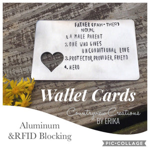 Father Definition Wallet Card (aluminum)