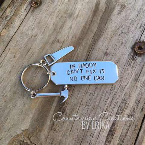 If Daddy Can't Fix It, keychain