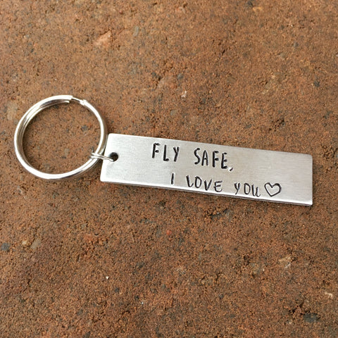 Fly Safe I Love You, keychain