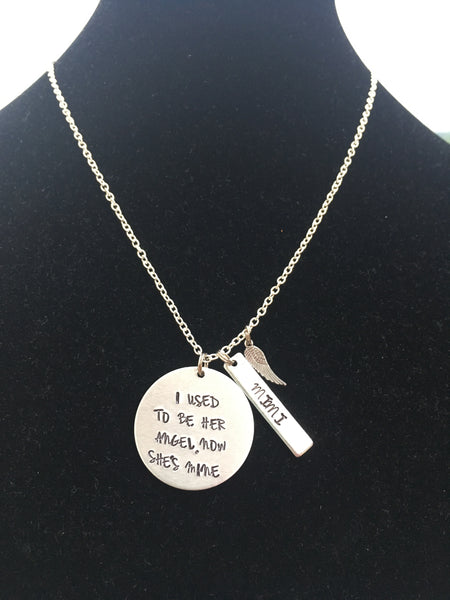 Remembrance Necklace w/bar accent