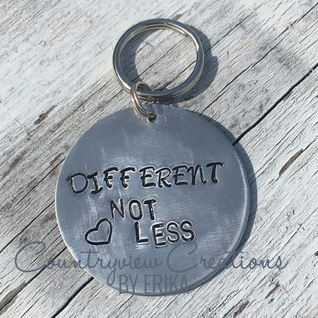 Different, Not Less- Autism Keychain