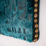 14.8×21cm ファブリックパネル Blue Green Mottled Texture