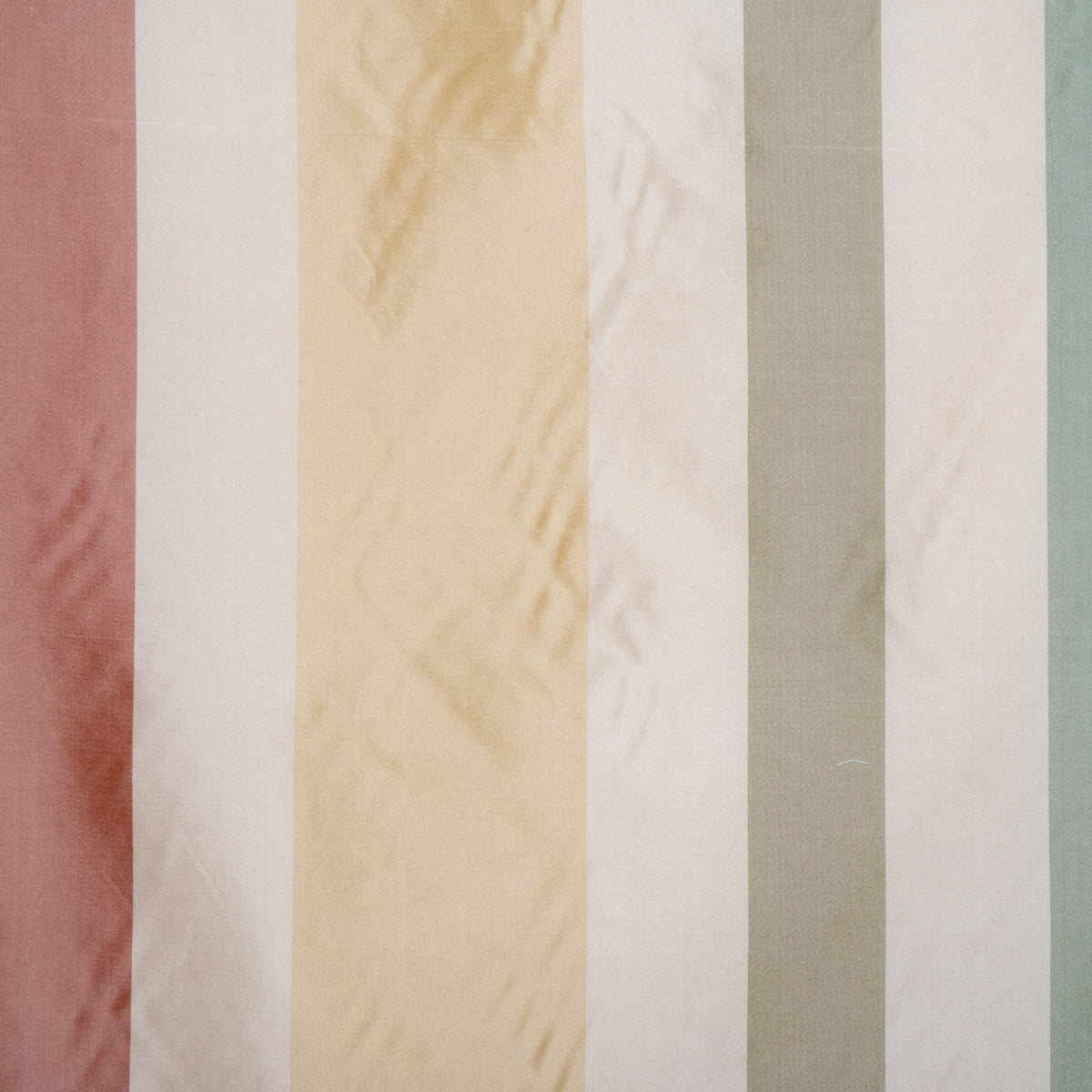 Fabric Silk Wide Stripe Mist
