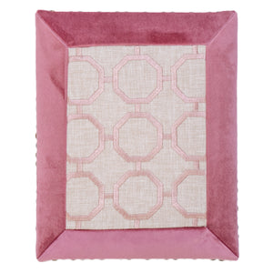 22×27cm ファブリックパネル Framed Pink Geometric Pattern