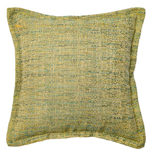 42cm角 コラージュクッション Multi Green Tweed With Tab