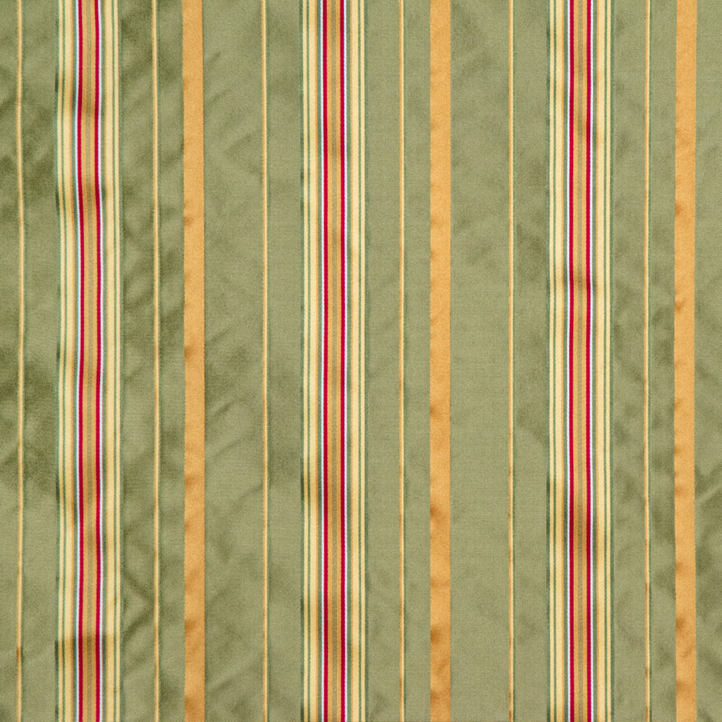 ファブリック Silk Stripe Green&Yellow