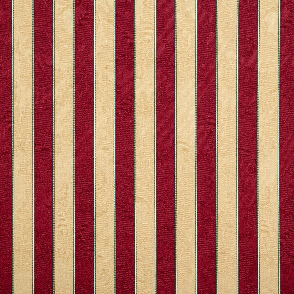 ファブリック Danmore Stripe Crimson&Cream
