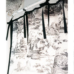 ドレープカーテン Toile de Jouy with Gather&Ribbon #Black&White