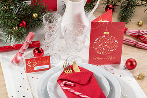 "<span style=""color: #990000;"">Nos bons plans pour une belle décoration de table de Noël traditionnelle</span>"