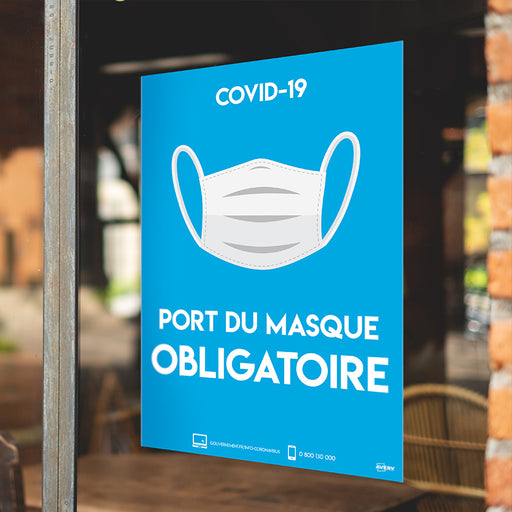 Affiches Adhésives Signalisation COVID-19