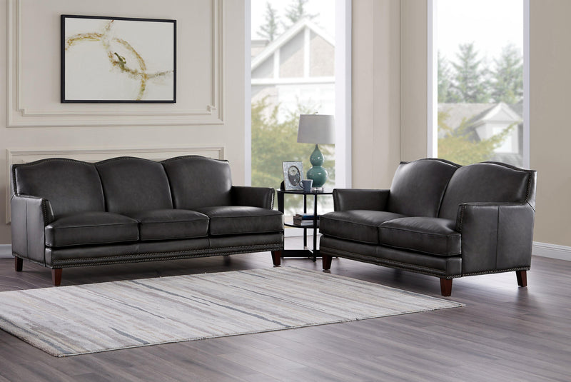 Oxford Leather Sofa Sets-Sofa, Loveseat-Ash Gray-Hydeline USA