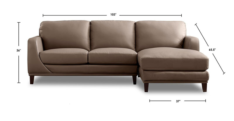 Soma Leather Sectional-Hydeline USA