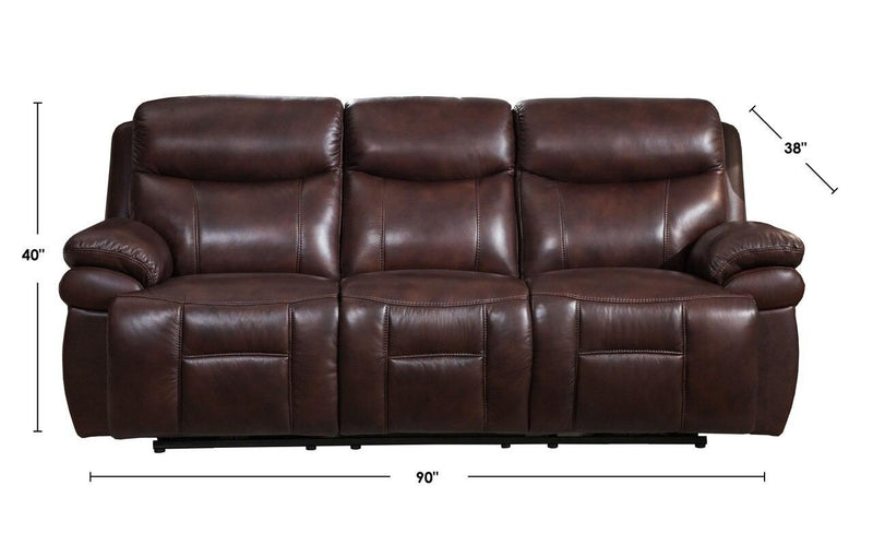 Springfield Leather Power Sofa Sets-Sofa, Loveseat, Chair-Brown-Hydeline USA