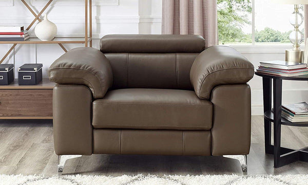 Milan Leather Power Recliner-Power Recliner-Recliner-Granite-Hydeline USA