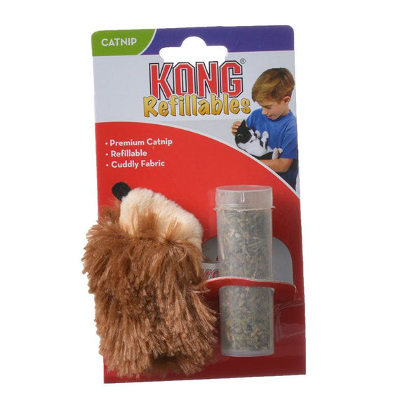 Kong Hedgehog Refillable Catnip Toy - [pups_path]