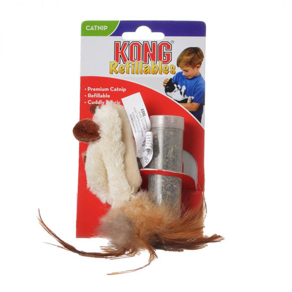 Kong Feather Mouse Cat Toy with Catnip - [pups_path]