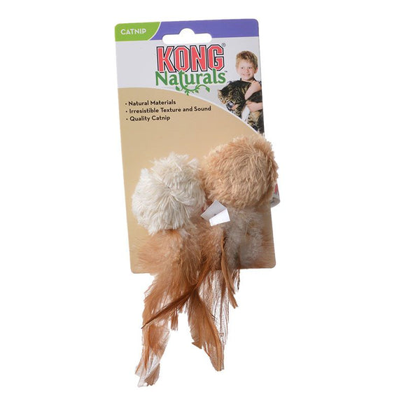 Kong Crinkle Ball with Feathers Cat Toy - [pups_path]