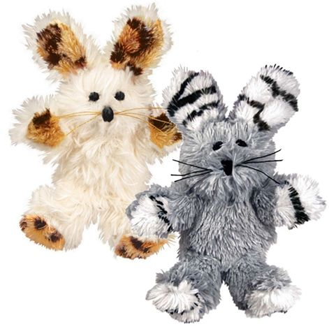 Kong Fuzzy Bunny Softies Cat Toy - Assorted - [pups_path]