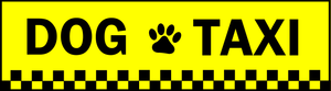 Dog Taxi Bumpersticker - [pups_path]