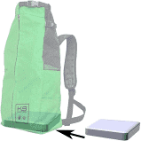 K9 Booster Block For Backpacks & Bags - [pups_path]