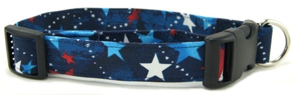 Red White Blue Shooting Stars Collar