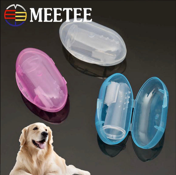 Pet Finger Toothbrush With Case (MEETEE)
