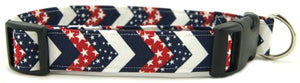 Red, White & Blue Chevrons Collar - [pups_path]
