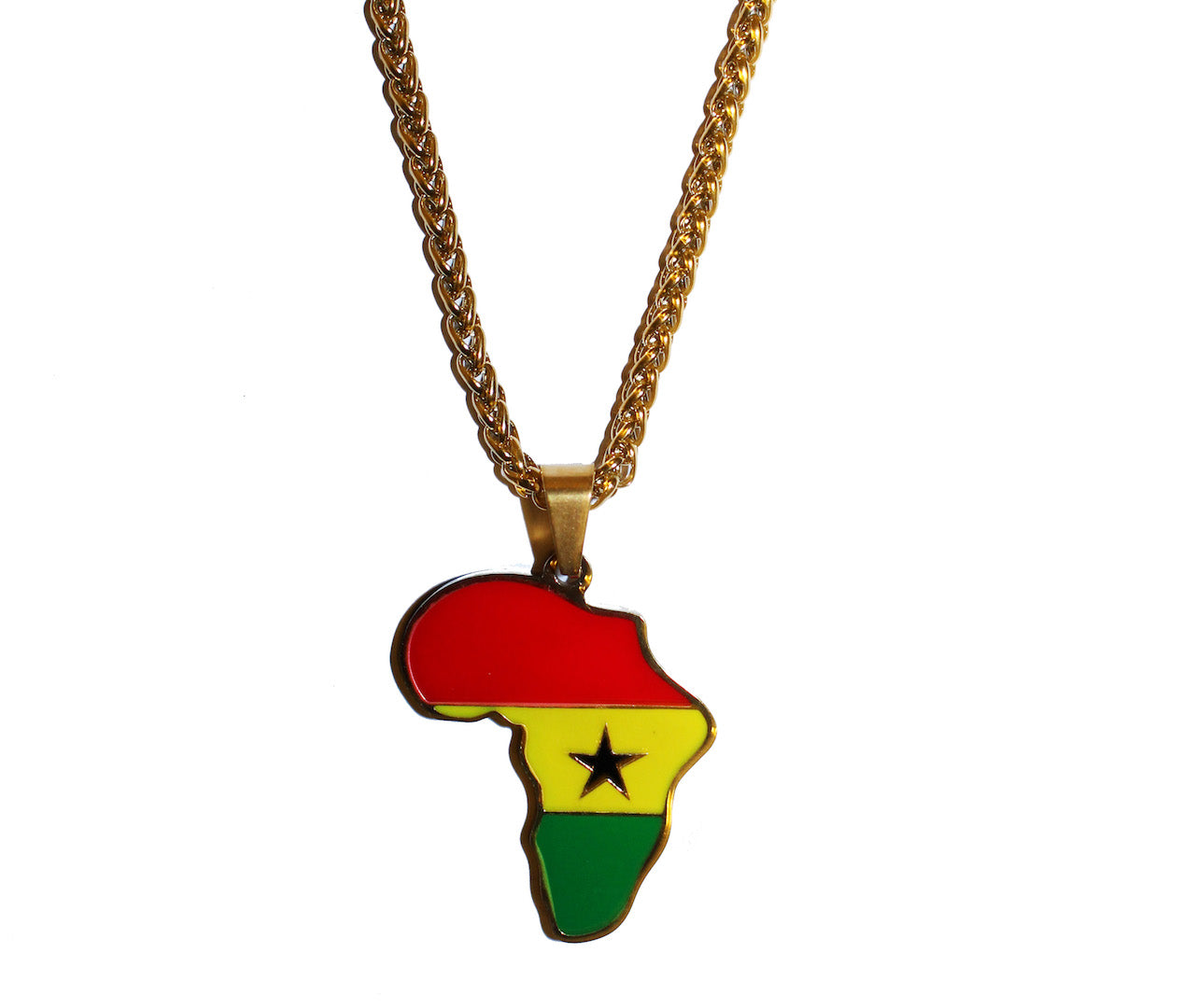 African Map Pendant Necklaces