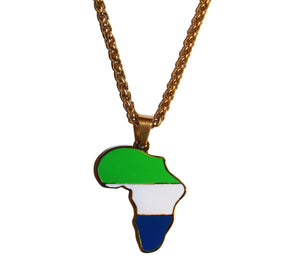 Sierra Leone - African Map necklace