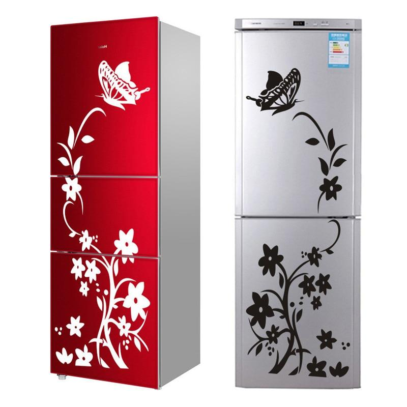 Flowers & Butterfly Pattern Refrigerator Or Wall Stickers