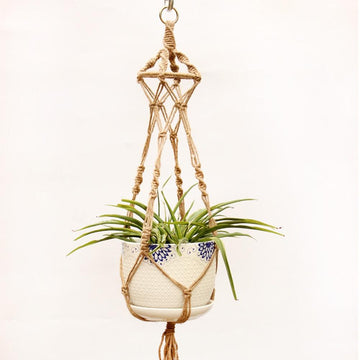 Macrame - 100% Non-GMO Hemp Rope Macrame Plant Pot Holder