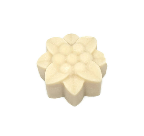 Natural handcrafted soaps colour Swirls. No fragrance or colour. Flower shaped soap