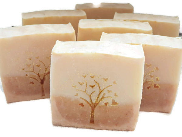 Set of Tranquillity soaps. Orange Blossom and turmeric soap