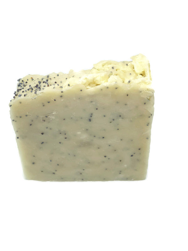 Lemon and poppy seed exfoliating soap